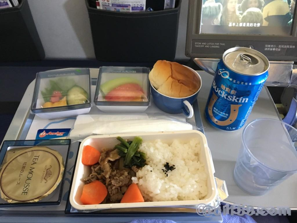 チャイナエアラインci159の機内食