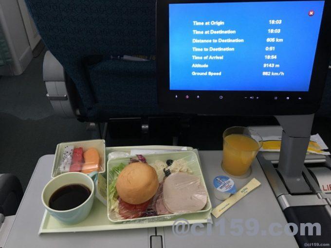 ベトナム航空VN0607の機内食