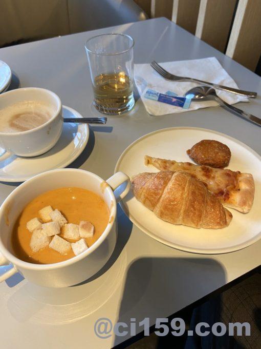 エールフランスラウンジの料理