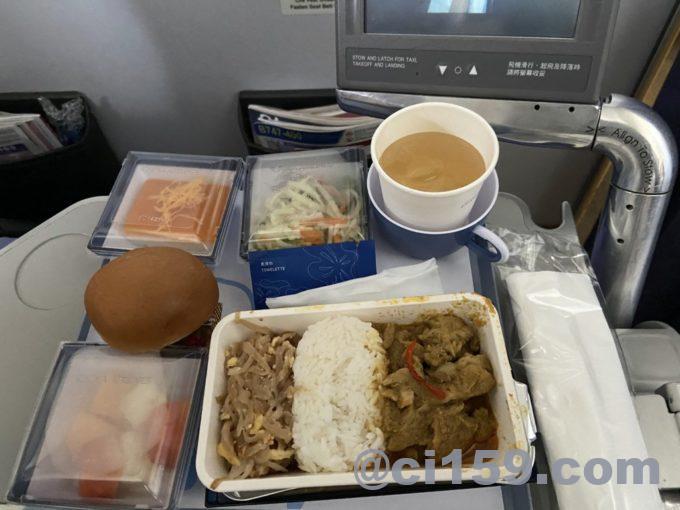 チャイナエアラインci834の機内食