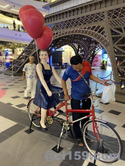TERMINAL 21 PATTAYAの自転車オブジェ