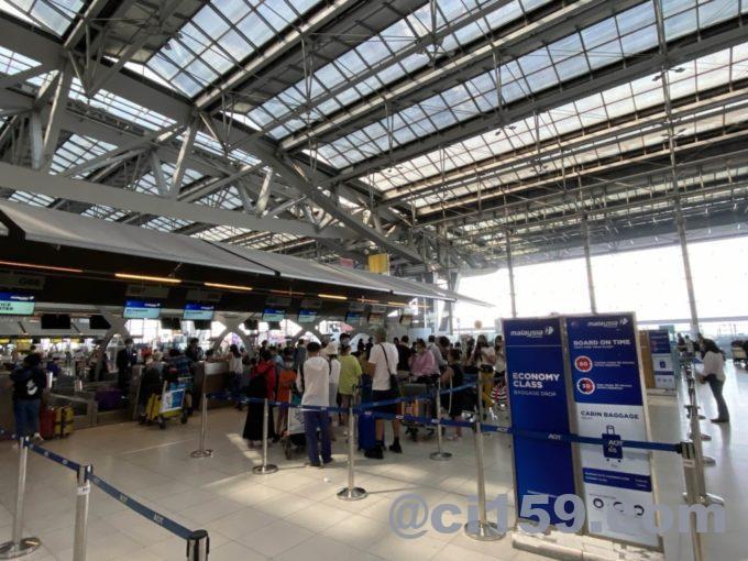 マレーシア航空チェックインカウンター