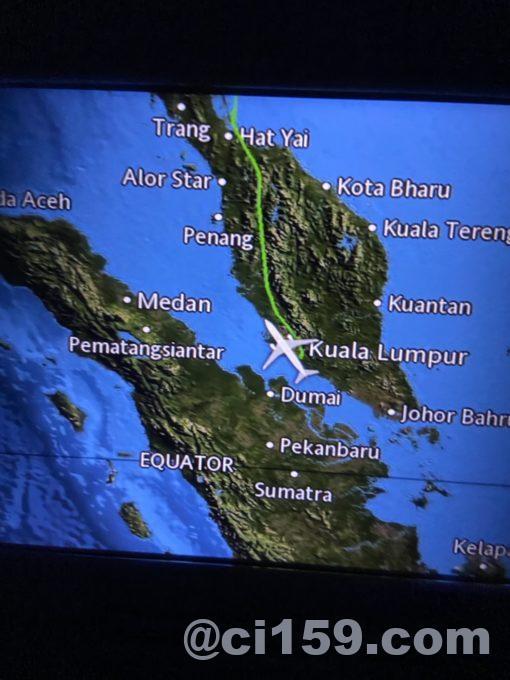 MH783のフライトマップ