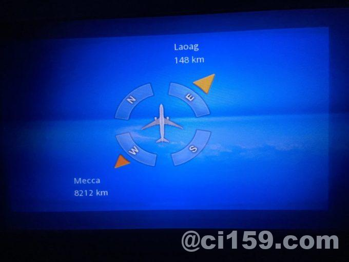 マレーシア航空エアバスA330-300のフライトマップ