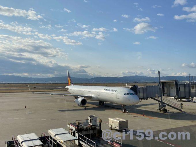 関西空港に駐機中のフィリピン航空エアバスA321neo