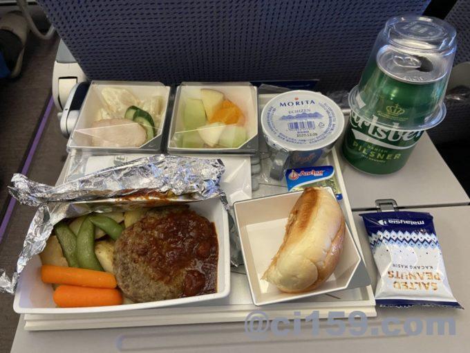 マレーシア航空MH53の機内食