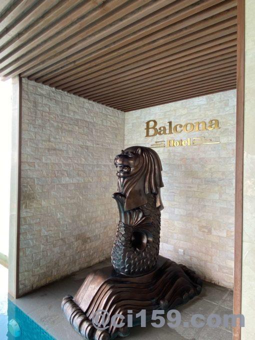 バルコナホテル屋上のシーライオン