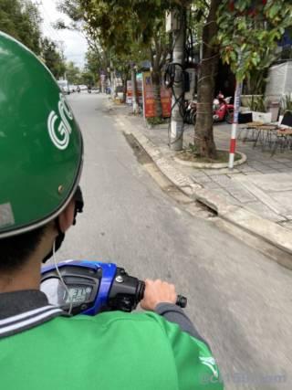 Grabバイクの乗車風景