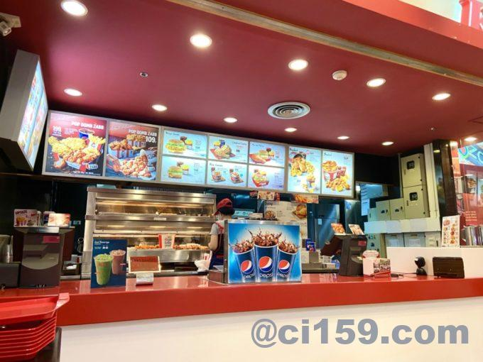 KFCのカウンター