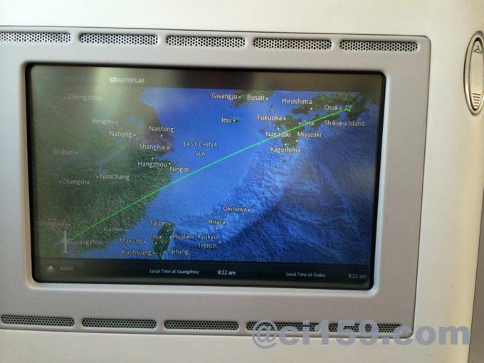 中国南方航空のフライトマップ