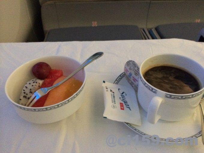 中国南方航空ビジネスクラスの機内食デザート
