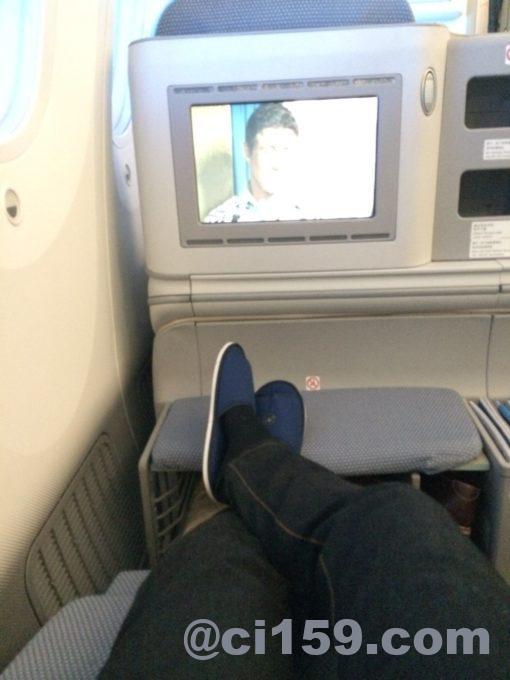 中国南方航空ビジネスクラスのフルフラットシート