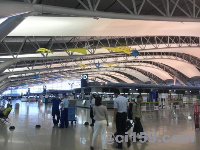 封鎖解除後の関西国際空港