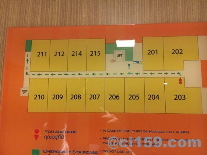 Adelphi Pattayaのフロアマップ