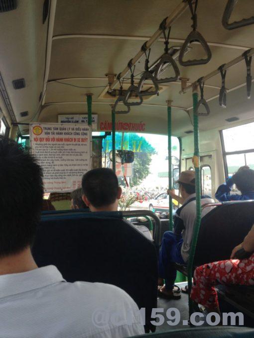 ホーチミンのローカルバス