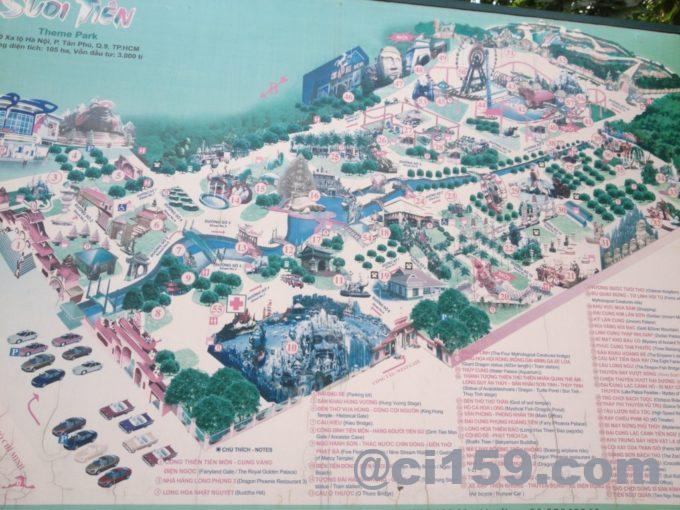 スイティエン公園の地図