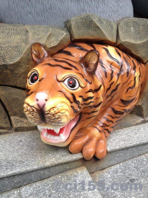 虎のオブジェ