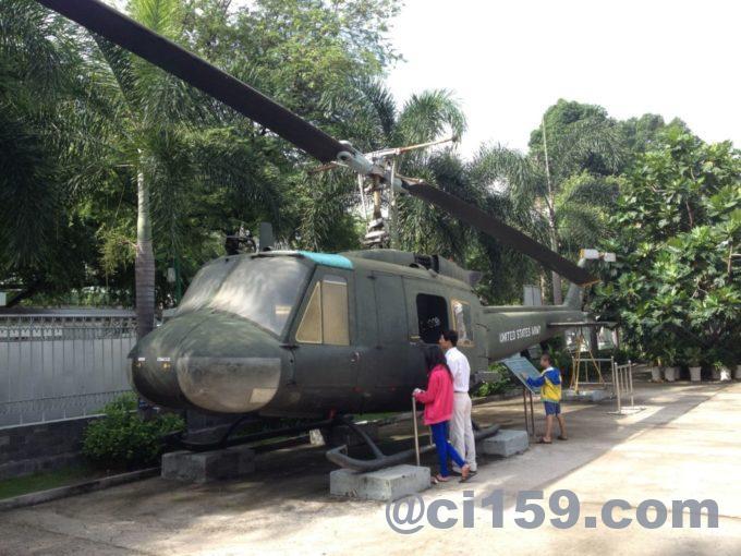 戦争証跡博物館の展示ヘリコプター