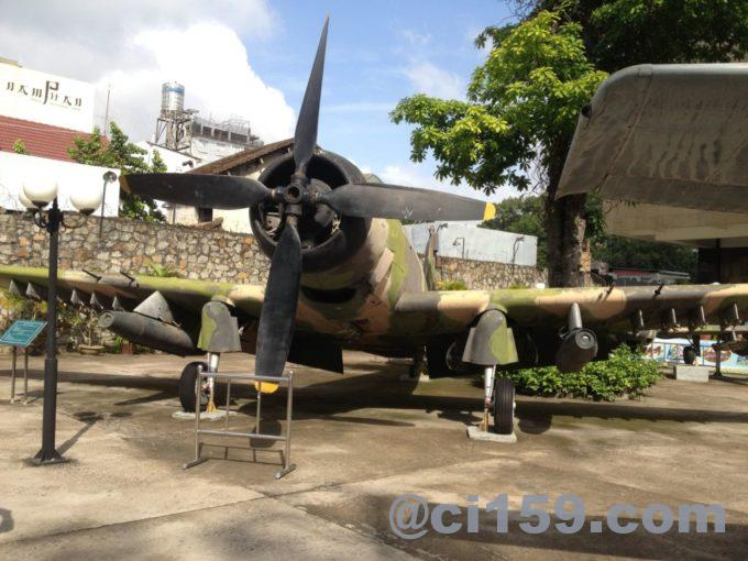 戦争証跡博物館の戦闘機