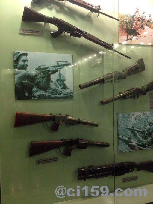 ライフルの展示