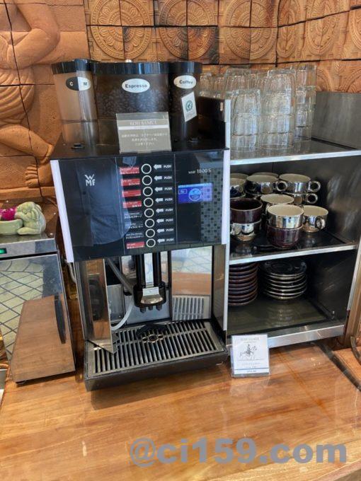 コサムイ バイ チェディルアンのコーヒーメーカー