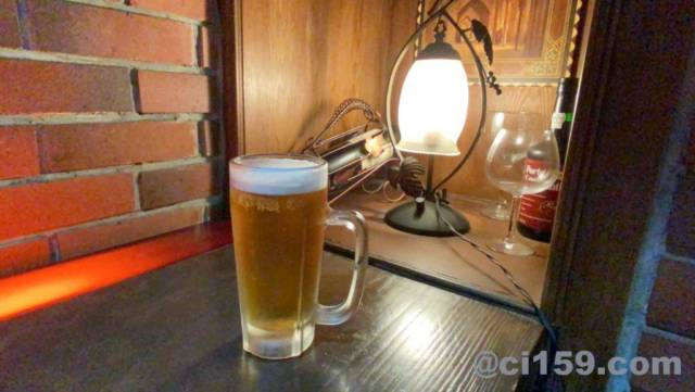 「あんとれ」の生ビール