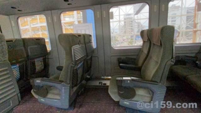 787系の特急きりしま号の座席