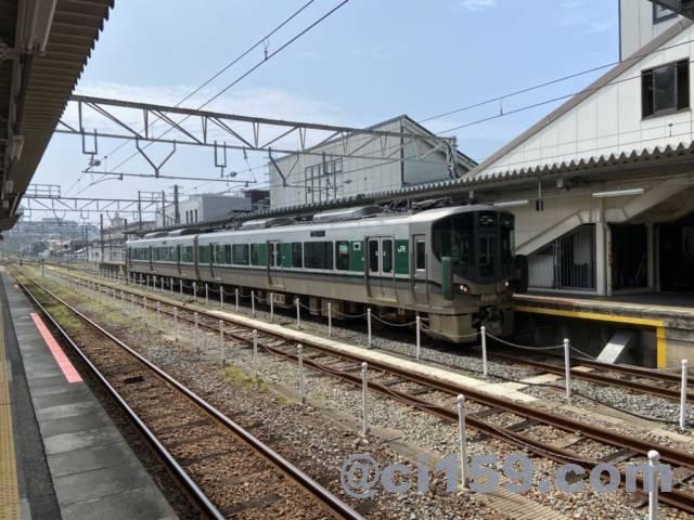 紀伊田辺駅に停車中の227系1000番台