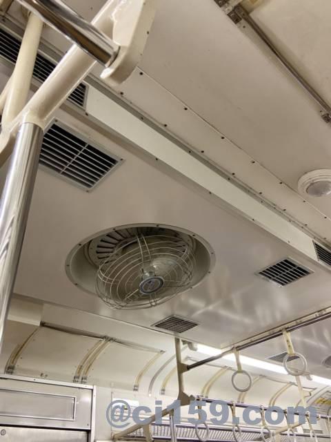 紀勢本線105系の扇風機