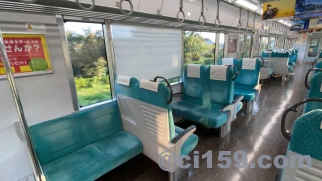 東海道本線313系の車内
