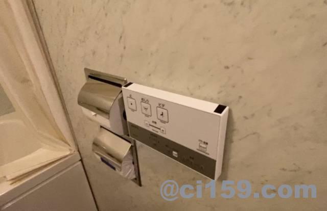 JR九州ホテル小倉のウォシュレットリモコン