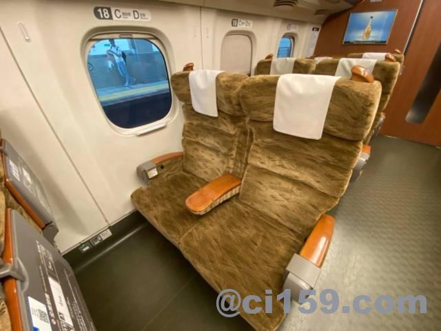九州新幹線N700みずほ号の指定席