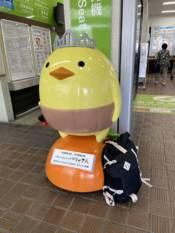 松山駅のバリィさん
