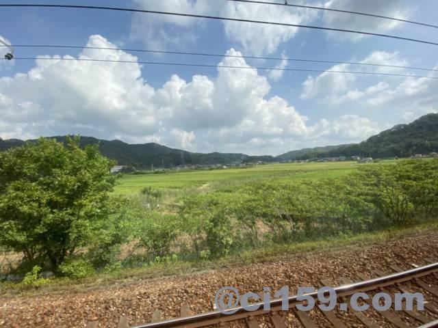 山陽本線115系からの車窓