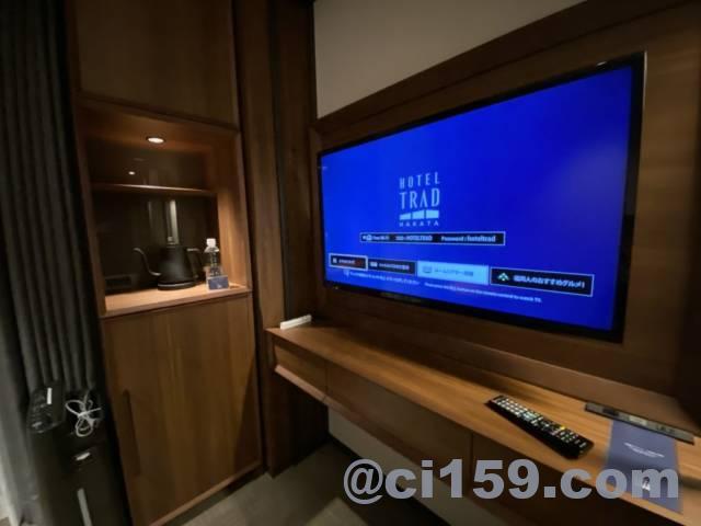 ホテルトラッド博多の液晶テレビ