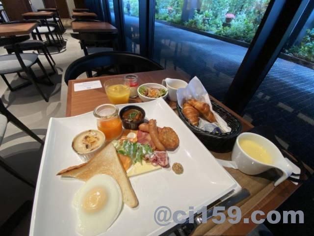 ホテルトラッド博多の洋朝食