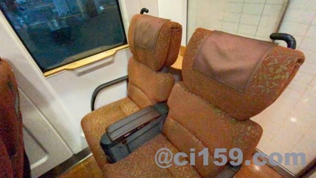 883系特急ソニック1号の座席