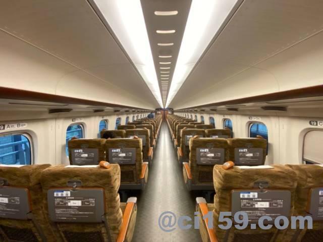 九州新幹線N700みずほ号指定席の車内
