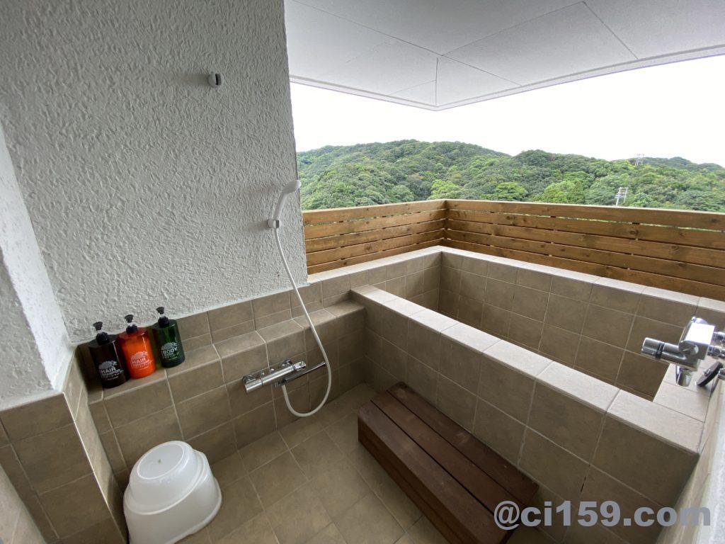 湯快リゾート鳥羽彩朝楽プレミアムルームの露天風呂