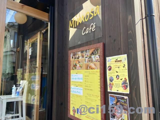 ミモザカフェの入口