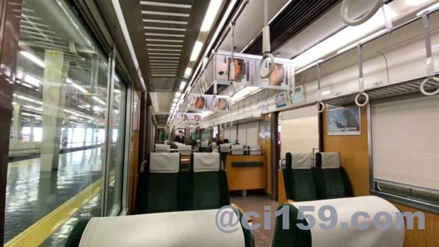 阪急京都線の特急の車内