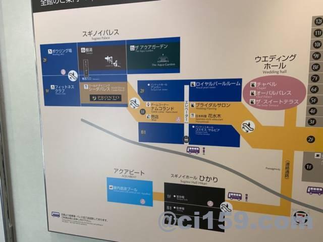 杉乃井ホテルの館内マップ