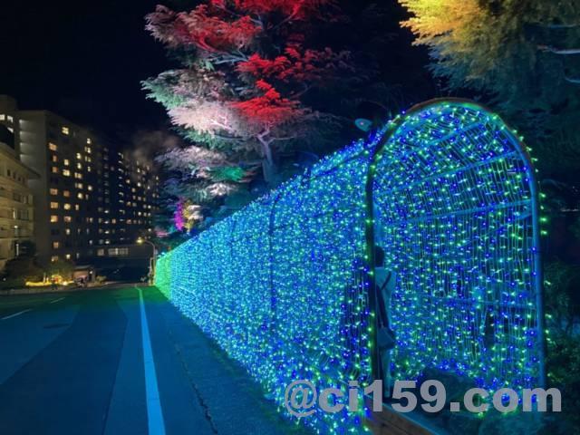 杉乃井ホテルのイルミネーション