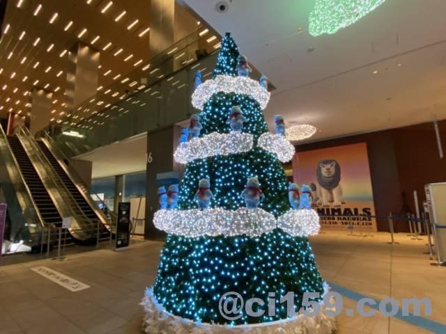 あべのハルカスに展示中のクリスマスツリー