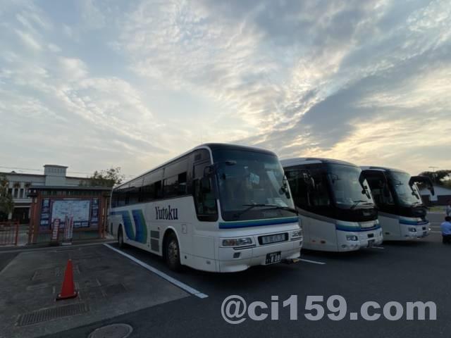 団体ツアーで利用したバス
