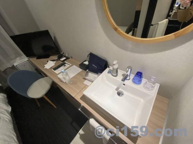 エスペリアホテル博多の洗面台