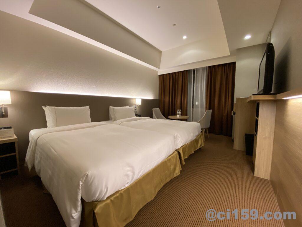 ロイヤルパークホテル福岡のハリウッドツイン