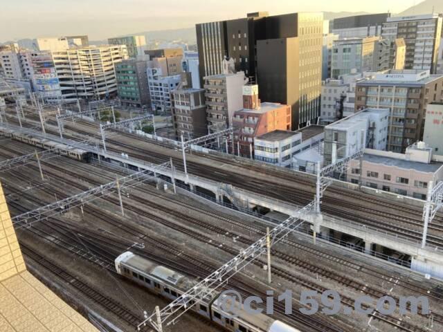 静鉄ホテルプレジオ博多駅前からの景色