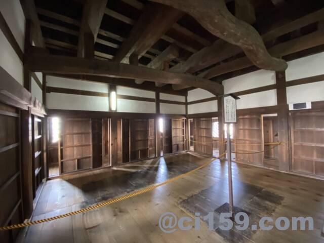 彦根城の天守内部
