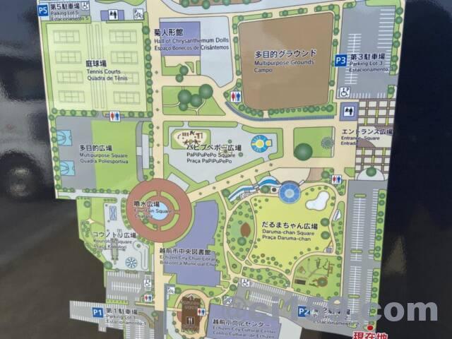 武生中央公園の全体マップ
